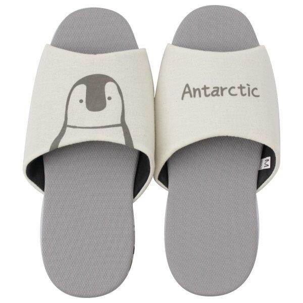吸濕排汗室內拖鞋 企鵝 灰 L NITORI宜得利家居