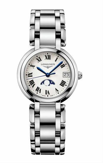 LONGINES 浪琴錶 L81154716 新月系列氣質紳士腕錶/白面30*50mm
