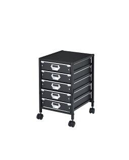 黑色5抽公文櫃外銷日本的硬紙抽屜更堅固耐用
