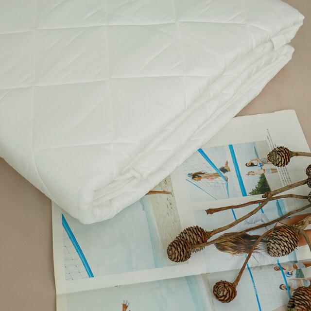 6x7尺 King Size  平單式保潔墊 抗菌防污 台灣製 厚實鋪棉 1