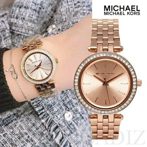 d04aeb1e38b1 美國正品Michael Kors 玫瑰金晶鑽都會女錶Mini Darci Watch MK3366 - 限時