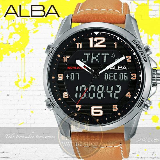 ALBA 劉以豪代言ACTIVE系列玩酷男孩潮流電子腕錶N021-X004J/AZ4013X1公司貨