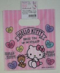 大賀屋 Hello Kitty 手提袋 5入 分裝袋 塑膠袋 袋子 KT 凱蒂貓 三麗鷗 日貨 正版 J00013180