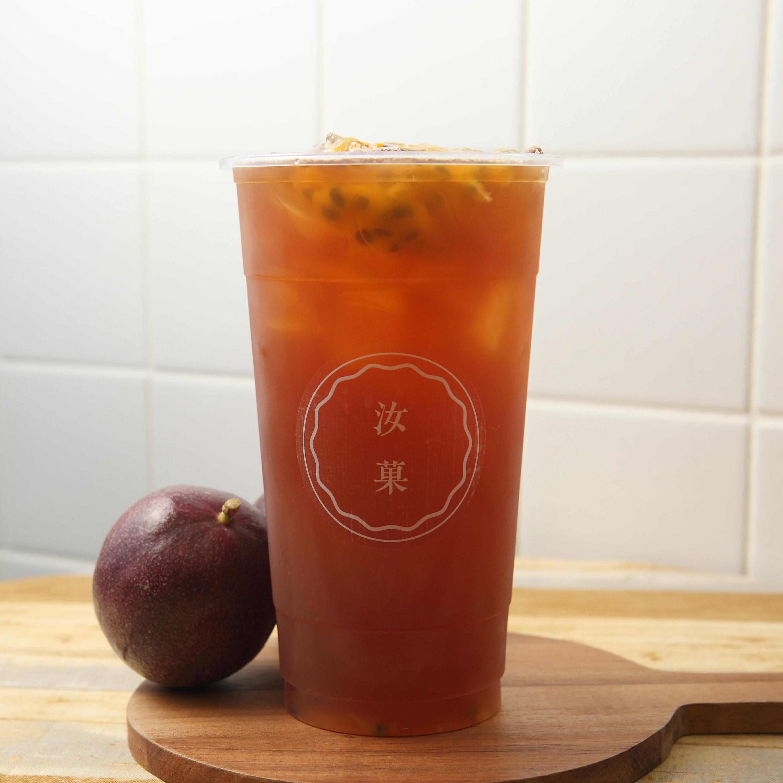 【汝菓】百香紅茶 L (冷) 700 c.c.★茶飲★水果風味★電子票券