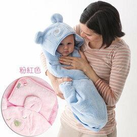 奇哥吸濕快乾浴袍巾+沐浴手套(粉色) 890元【現貨三組】