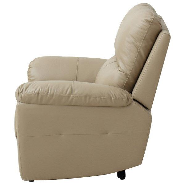 ◎半皮1人用電動可躺式沙發 N-BEAZEL MO NITORI宜得利家居 2