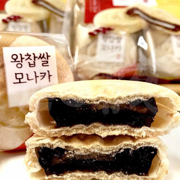 韓國 CW 紅豆麻糬最中傳統餅 240g  8個入 韓國傳統的宮廷點心.紅豆泥中間還夾著麻