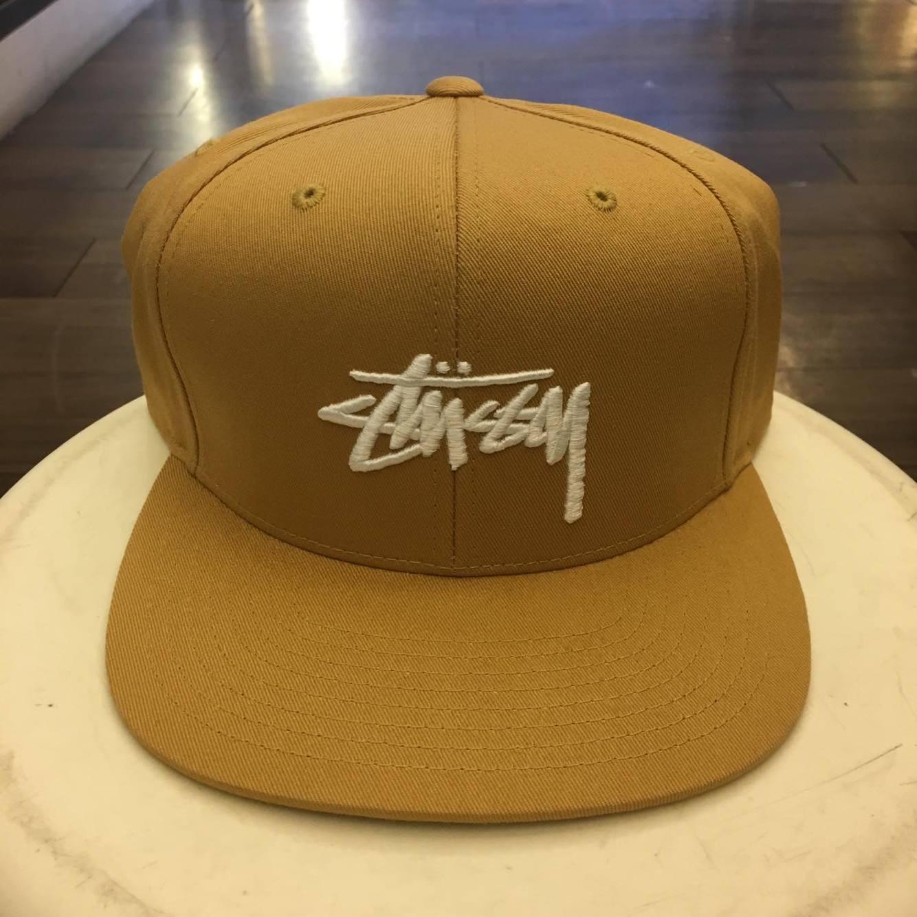 BEETLE STUSSY SP17 CAP 卡其 土黃 經典 LOGO 後扣帽 大小可調 SNAPBACK ST-55