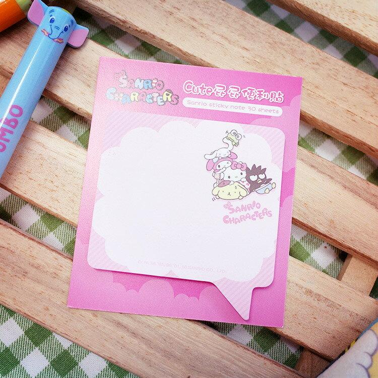 PGS7 三麗鷗系列商品 - 三麗鷗 限量 便利貼 - 對話框 (小) Memo貼 便條紙 Kitty 美樂蒂【SHU7039】