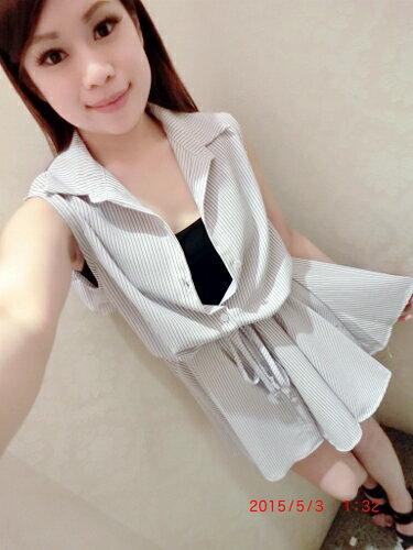 Doublet 日本vivi  韓國空運直送 東大門 韓國代購  春夏流行新款無袖襯衫洋裝