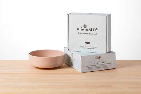 NANABABY:【舊金山設計品牌Miniware】竹纖維兒童學習餐具點心碗單入(無吸盤)-鮭魚貝果