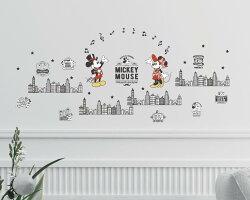 迪士尼授權 米奇好朋友系列-復古風創意壁貼 GID083