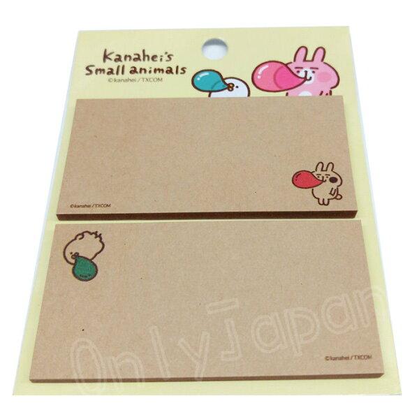 【真愛日本】18050700025牛皮紙便利貼-吹泡泡卡娜赫拉的小動物兔兔P助便條紙便利貼文具