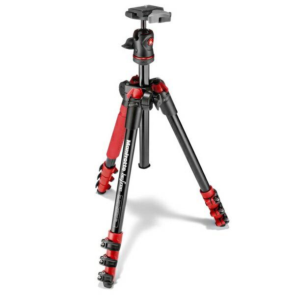 【普羅相機】MANFROTTO Befree 自由者旅行腳架套組 (紅色)