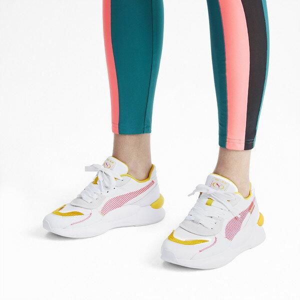 KUMO SHOES-現貨 PUMA RS 9.8 PROTO WN'S 白黃粉 慢跑鞋 休閒鞋 女鞋 370393-01