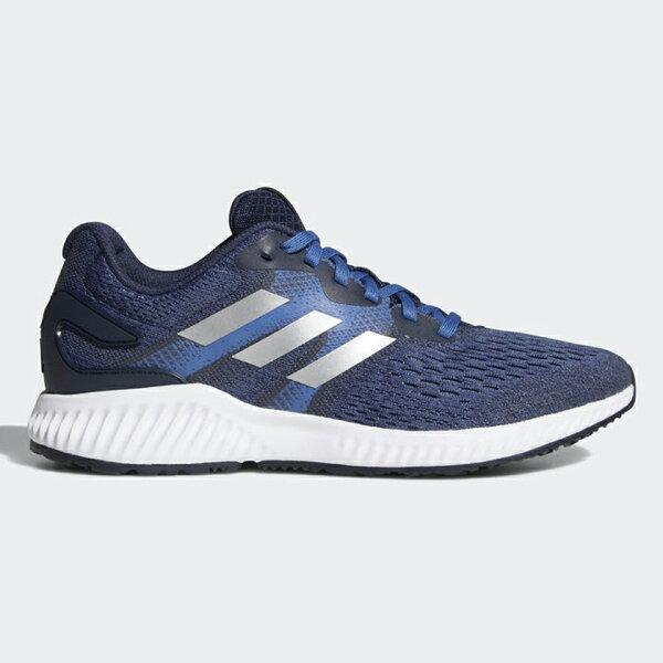 ADIDASMEN'SAEROBOUNCE男鞋慢跑休閒透氣網布舒適藍白黑【運動世界】CQ0853