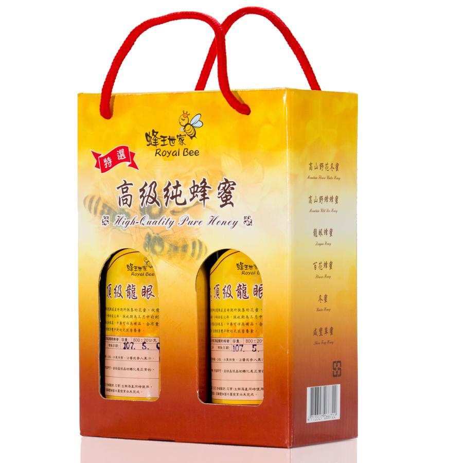 【蜂王世家】台灣頂級龍眼蜂蜜750g兩瓶禮盒組