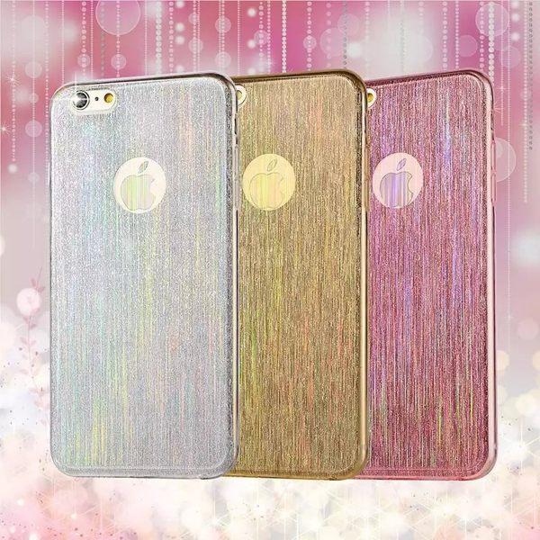 蘋果iPhone5  5S  SE軟殼 流星拉絲矽膠套 蘋果5SE 軟邊透明手機保護殼~