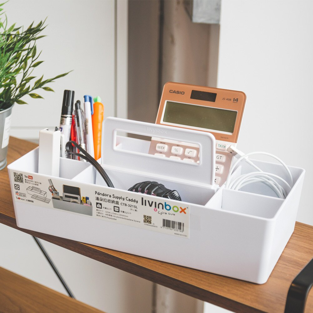 收納盒/辦公/筆筒/工具箱 Asa手提分隔式收納盒 MIT台灣製 完美主義【R0070】