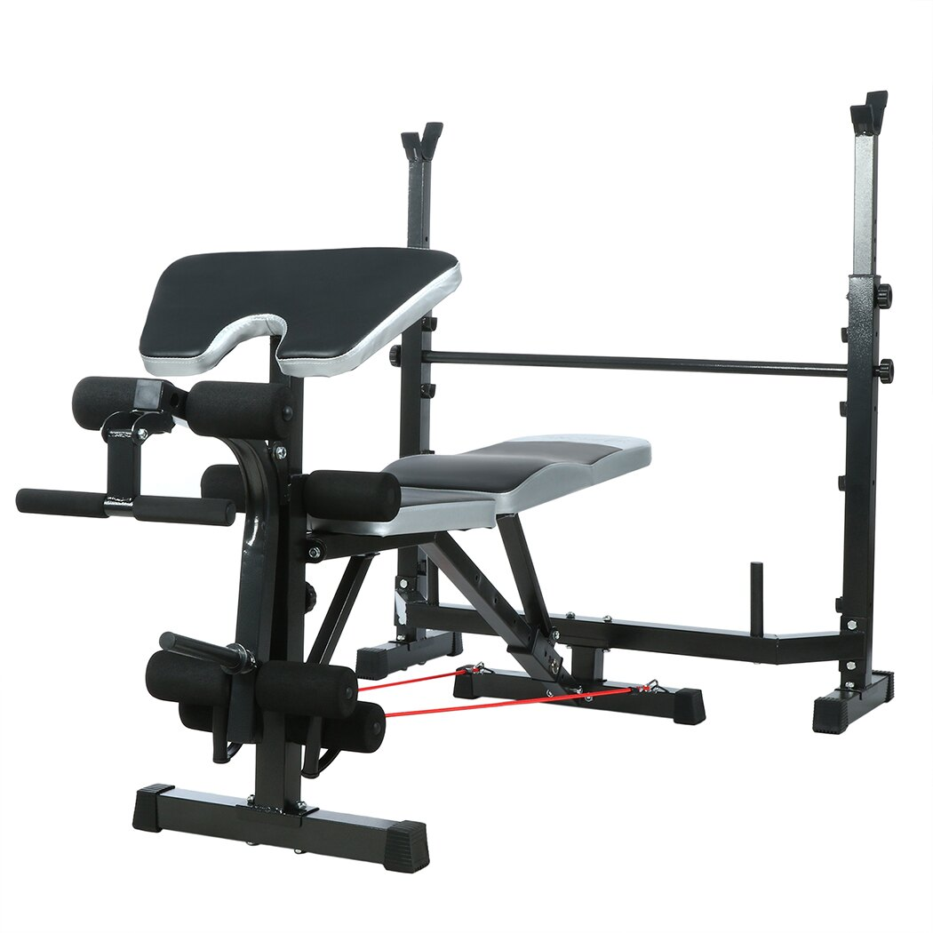 Mid-Width Bench Arms Height Adjustable Fitness Home Use 1
