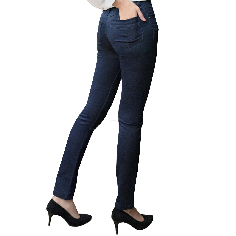 顯瘦--魅力無法擋激瘦完美曲線顯瘦雙口袋窄管小直筒牛仔褲 / 鉛筆褲(藍L-7L)-N102眼圈熊中大尺碼 1