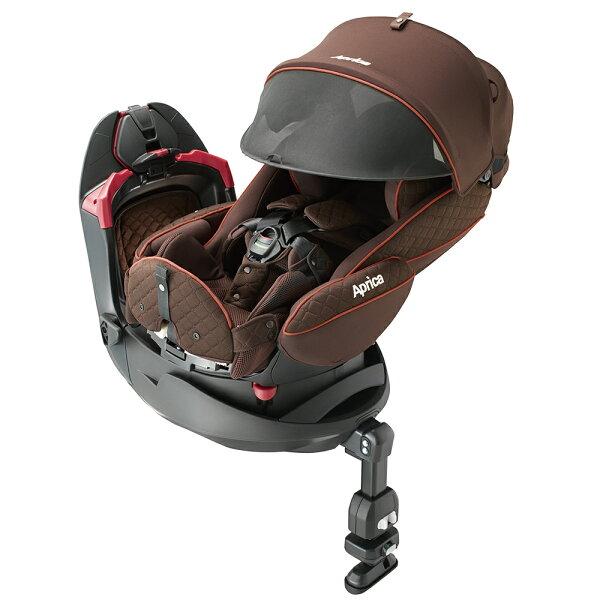 【麗嬰房】Aprica平躺型嬰幼兒汽車安全臥床椅FladeagrowHIDX旅程系列(日初橙紅BR)