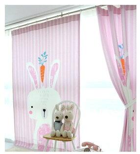 幸福家居商城:C0014超萌可愛韓國風格85*140CM可愛小兔兒童房窗簾門簾遮光簾