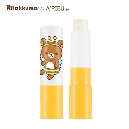 韓國 A'PIEU 拉拉熊蜂蜜牛奶護唇膏 3.3g 護唇膏 Rilakkuma A pieu Apieu 拉拉熊聯名款【B062540】