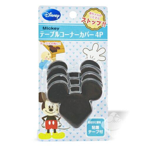 【日本】 迪士尼桌角安全保護套-米奇(4入裝)/兒童防撞/桌角保護套/桌角貼/防撞墊/保護墊╭。☆║.Omo Omo go物趣.║☆。╮