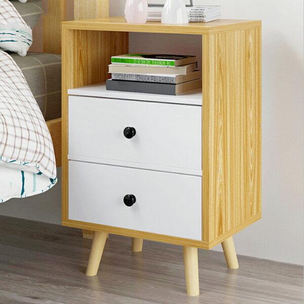 【免運】三層床頭櫃雙抽屜床頭櫃床頭收納櫃【YV9614】快樂生活網