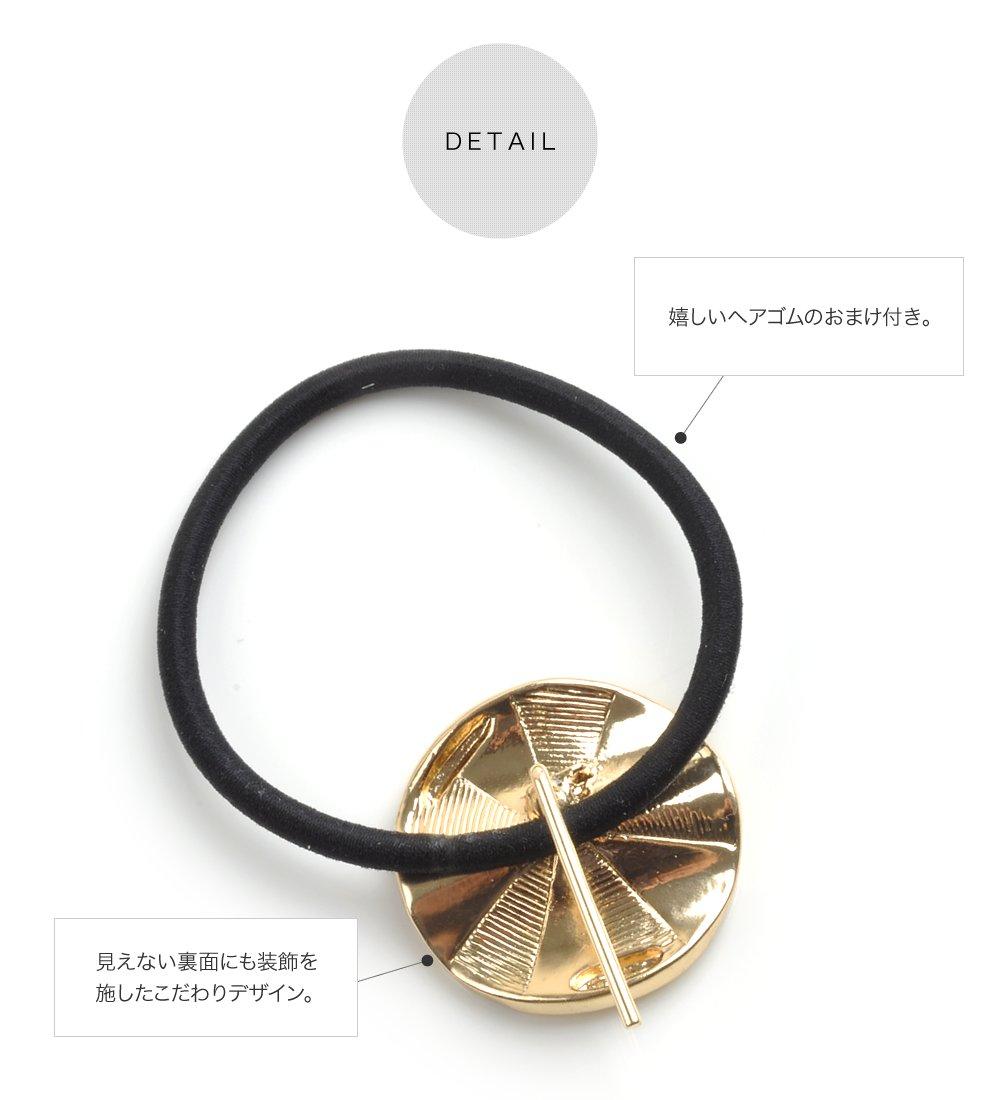 日本CREAM DOT  /  ポニーフック ヘアカフス ヘアゴム 大人っぽい シンプル おしゃれ ヘアアクセサリー マーブル 丸 サークル ホログラム 大人カジュアル シンプル 可愛い ゴールド ホワイト ピンク ブルー  /  qc0461  /  日本必買 日本樂天直送(690) 5