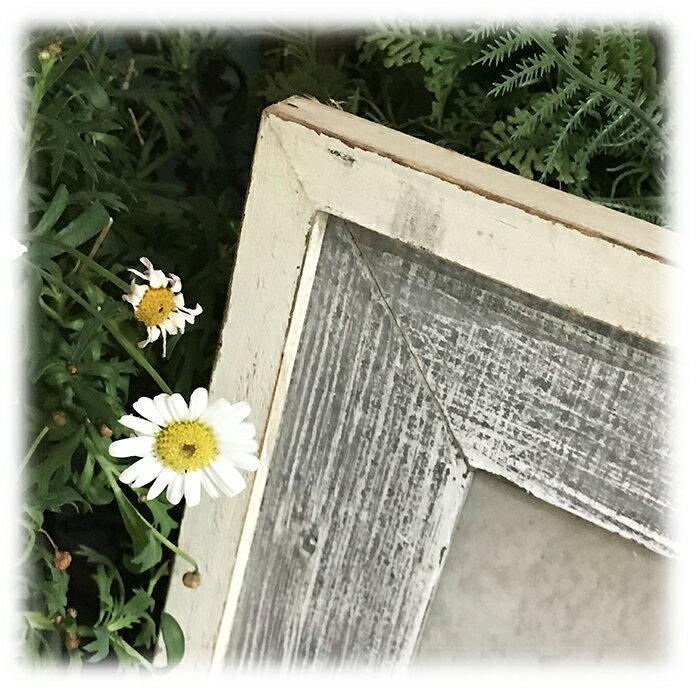 法式實木復古做舊掛墻大相框 擺件 懷舊風格1入