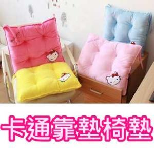 *vivi shop*可愛 Hello kitty 超柔軟絨布椅墊  坐墊 -綁帶設計固定