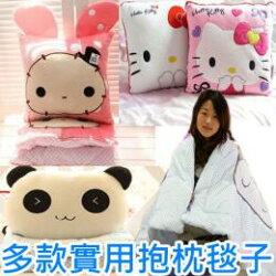*vivi shop*現貨特惠出清- 可愛棕貓 保暖兩用抱枕 靠墊+ 保溫被子