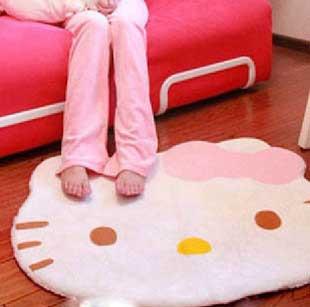*vivi shop*@  凱蒂貓超可愛大臉款-可愛kitty貓 大地毯 地墊-特惠尾貨出清商品