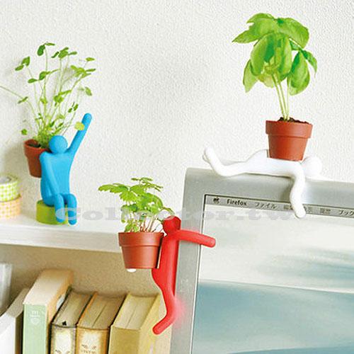 【F15020401】鋼鐵線人DIY百變盆栽 迷你植物 辦公桌趣味玩具
