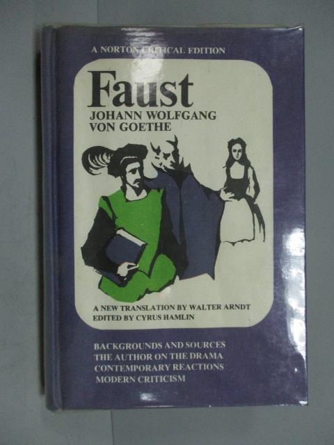 ~書寶 書T1/原文小說_IOJ~Faust_Johann Wolfgang Von Go