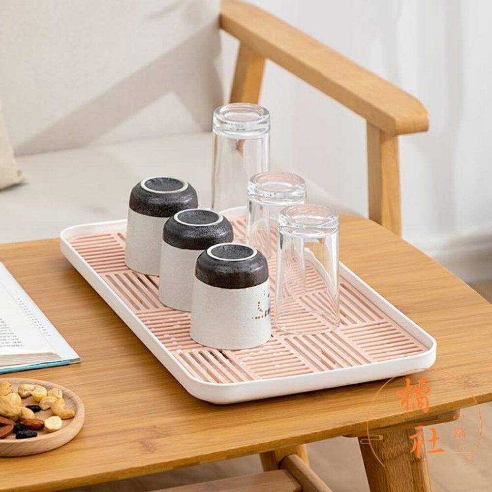 居家家用杯架瀝水架被子收納盤茶杯茶具【櫻田川島】