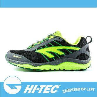 萬特戶外運動 HI-TEC 哈樂卡夜跑 HARAKA NITE A005787052 男超輕野跑鞋 反光 吸濕排汗 耐磨大底 抓地力強 透氣 輕薄 螢光綠色