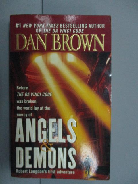 ~書寶 書T2/原文小說_NNW~Angels    Demons_Dan Brown