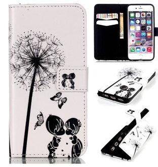 蘋果iPhone 5/5S/SE 麗聲翻蓋插卡支架浮雕彩繪皮套【預購】