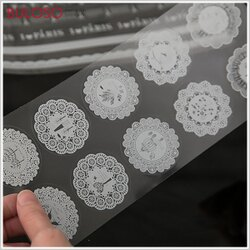 《不囉唆》韓國文具蕾絲透明包裝貼紙 DIY/長條白色碎花/巴黎鐵塔(不挑色/款)【A289825】