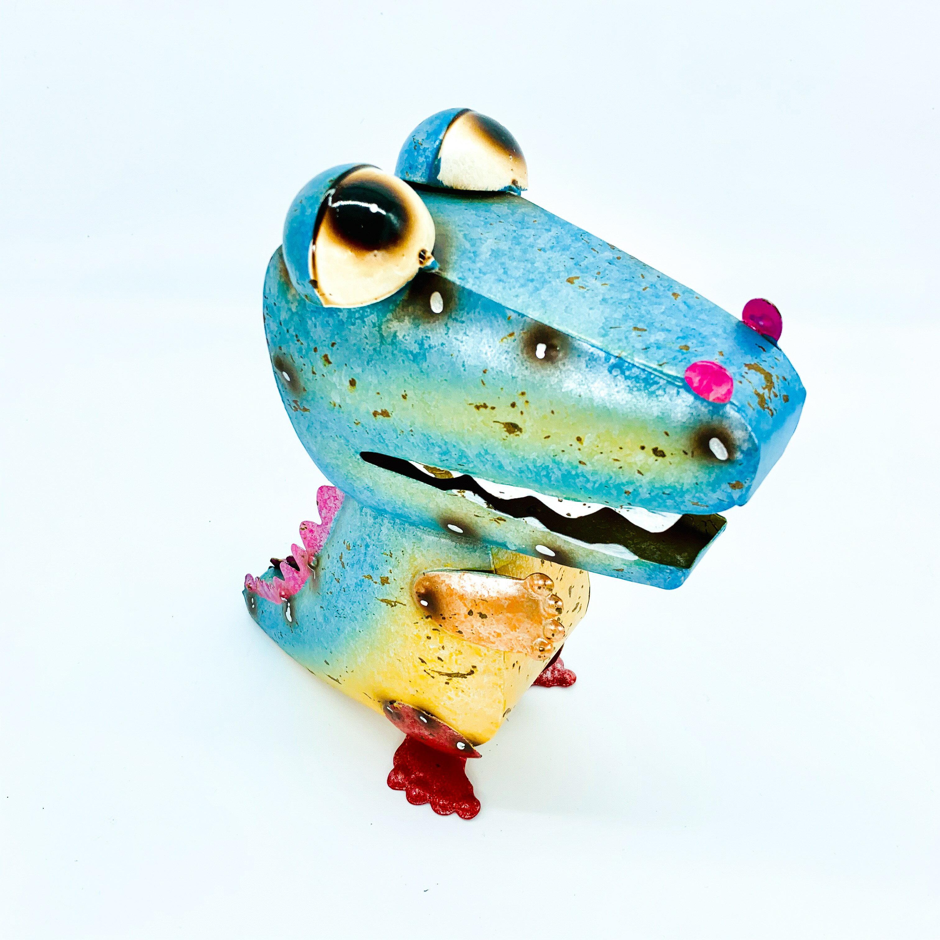 日本高山 絕版品限量供應 動物擺飾 繽紛恐龍 日本直送 日本設計 生鐵手作可愛多采風格擺飾 不會再有 把握機會 3