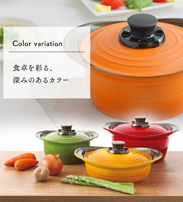 日本IRIS OHYAMA / KITCHEN CHEF / 無加水鍋 / 淺型 / 24cm / MKS-P24S / 兩手提鍋 / 兩手提鍋 / 無水烹調鍋 / 9594429。共3色-日本必買 日本樂天代購(5481*2)。件件免運 1