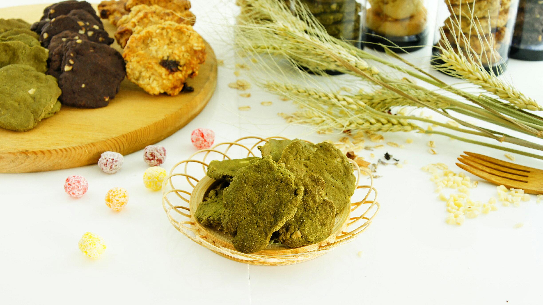 純手工杏仁抹茶餅乾 (140g~150g)【菁培坊】 純手工,無添加人工香料,色素的安心餅乾