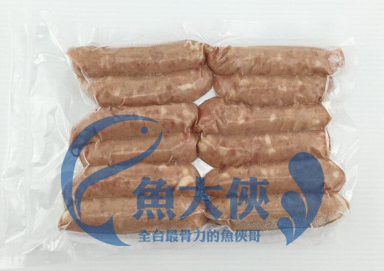 F2【魚大俠】FH162黑胡椒風味虱目魚香腸(10-12條/600g/包)