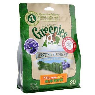 《美國Greenies》健綠潔牙骨 (藍莓/薄荷口味)小型款7-11kg/ 12oz