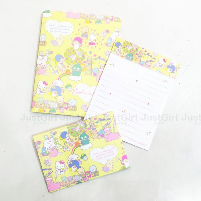 三麗鷗家族 實驗 迷你 信封 信紙 收納組 信封X6 信紙X12 文具 製   ^~ Ju