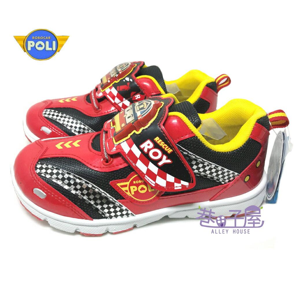 【巷子屋】救援小隊 POLI波力 羅伊男童電燈燈造型運動休閒鞋 [51312] 紅 MIT台灣製造 超值價$198