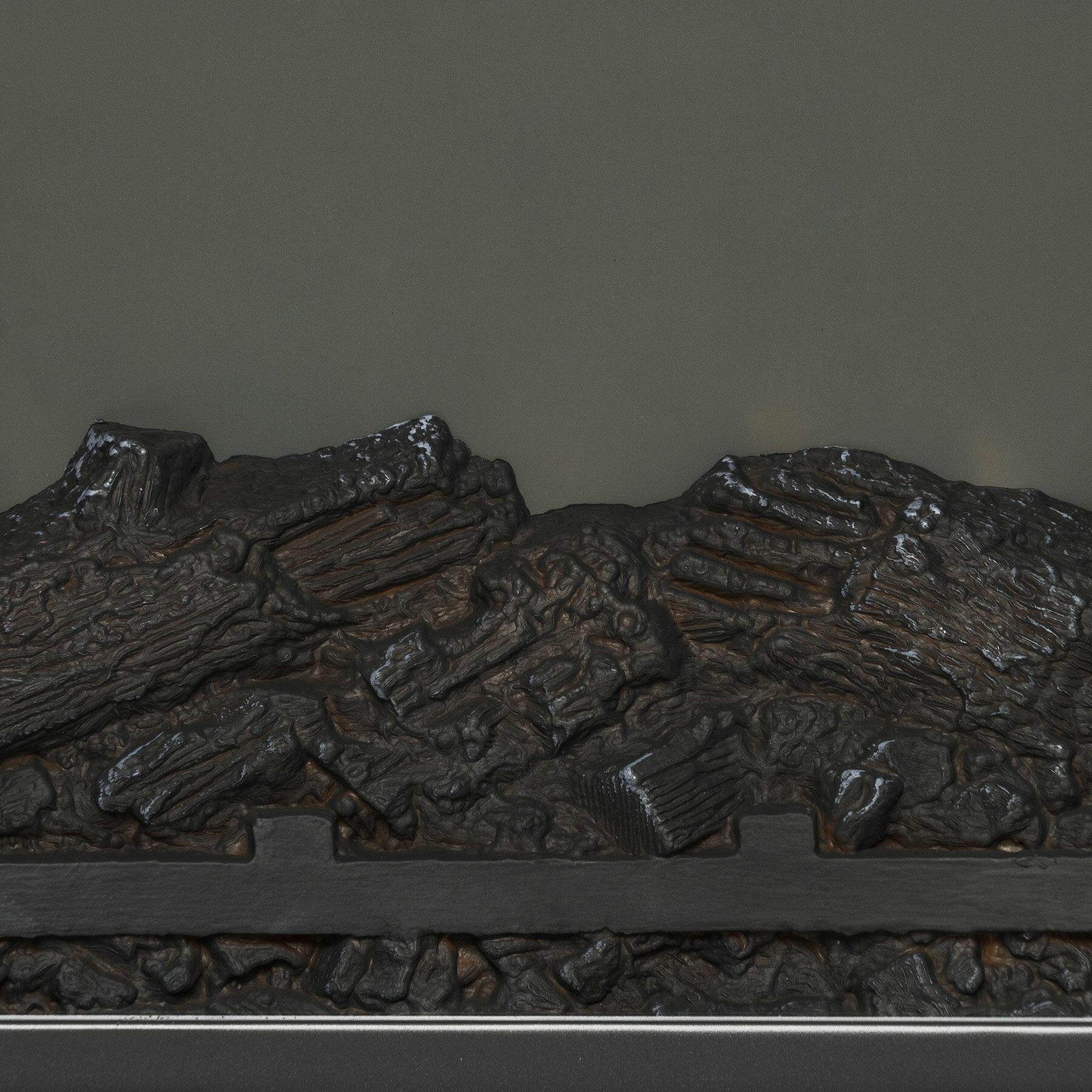"AKDY 27"" Electric Fireplace Freestanding White Wooden Mantel Firebox 3D Flame w/ Logs Heater 3"